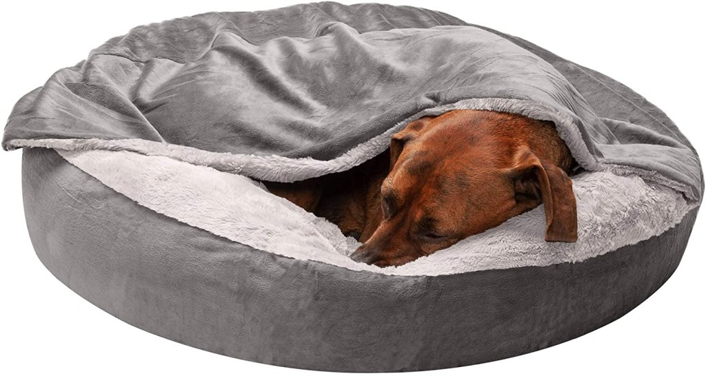 Furhaven Snuggery Hooded Dog Bed