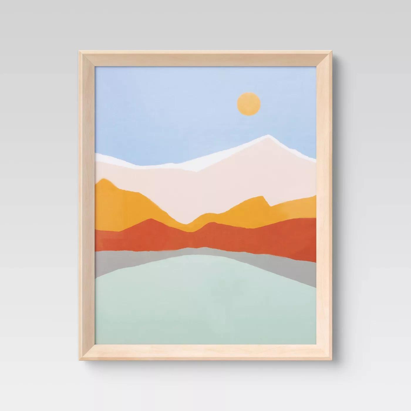 Wedge Poster Frame Natural