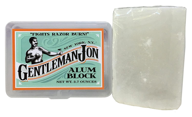 Gentleman Jon Alum Block and plastic case