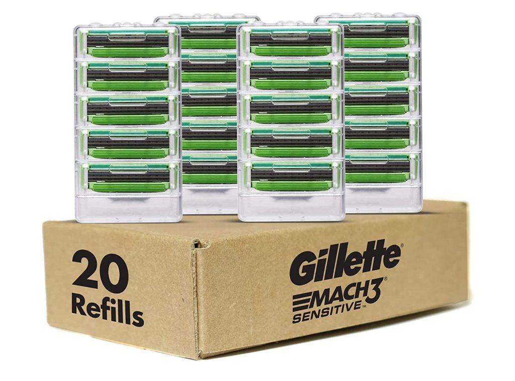 Gillette-Mach3-Sensitive-Mens-Razor-20-Refills
