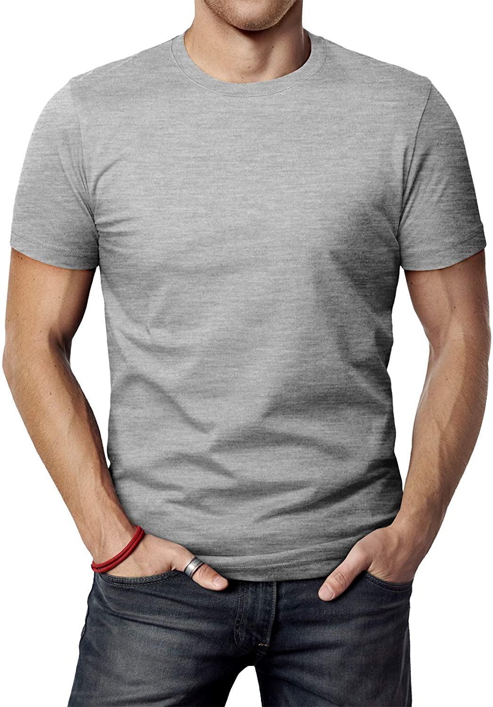 Man wears H&M Men's Casual Slim Fit T-Shirts