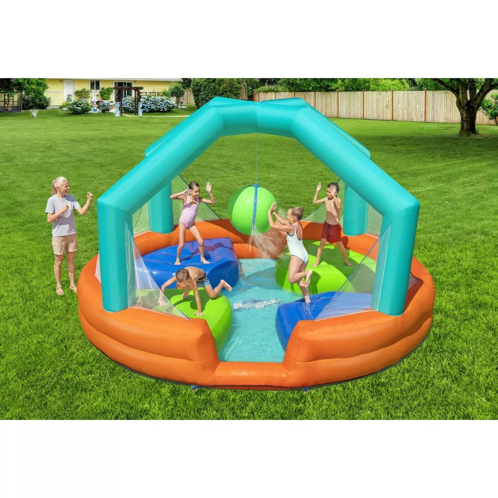 H2OGO Dodge and Drench Outdoor Play Bounce House Game and Water Park Toy
