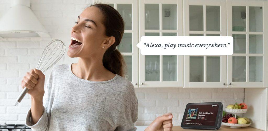 alexa multiroom audio echo speaker