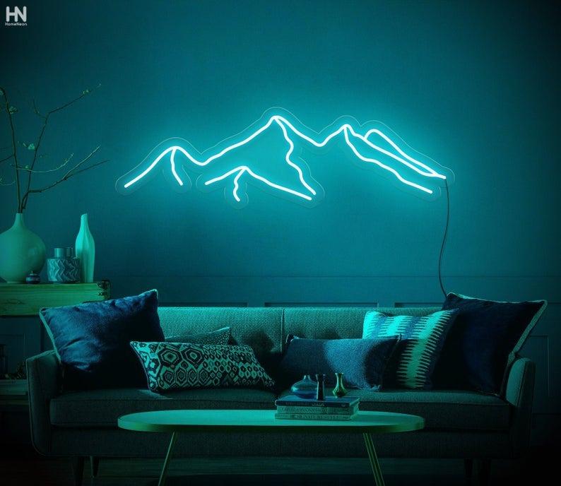 homeneon mountains neon sign