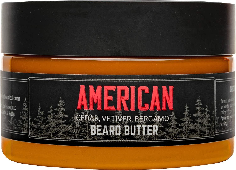 Live Bearded Beard Butter in American fragrance; best beard butter