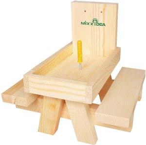 MIXXIDEA squirrel feeder table, squirrel picnic table