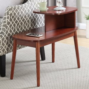 Mahogany wooden side table, side table with storage