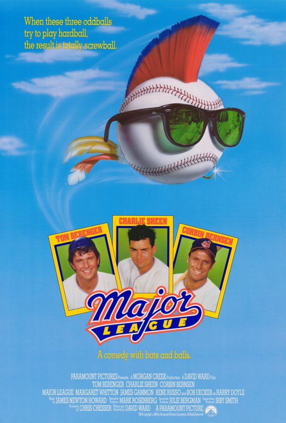 Major League movie poster; best baseball movies