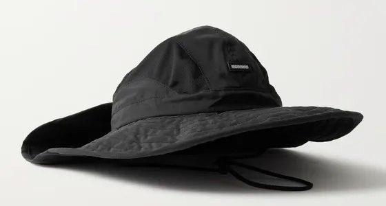 Neighborhood Dusters Printed Mesh-Paneled Cotton and Nylon Blend Bucket Hat
