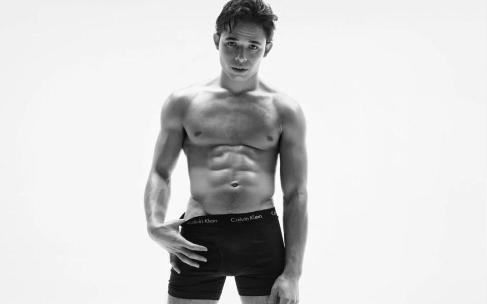 man in Calvin Klein underwear