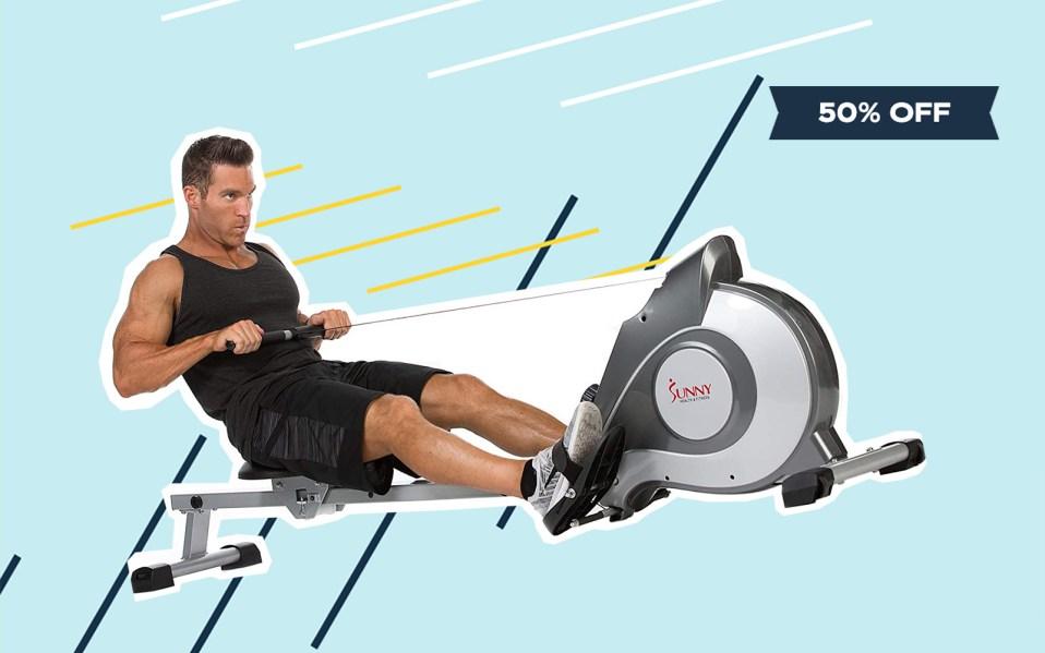 sunny health & fitness rowing machine,