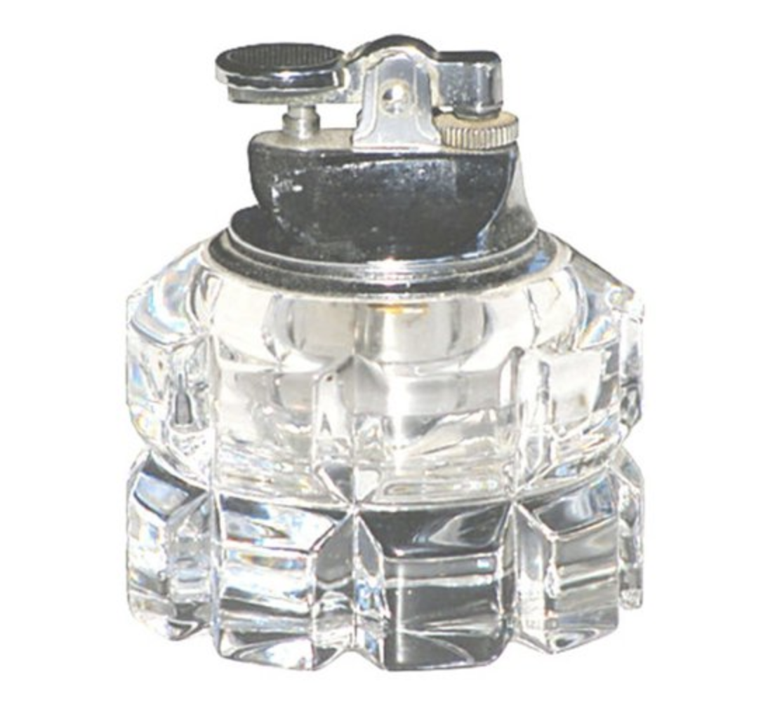 One Kings Lane Art Deco Faceted Crystal Lighter