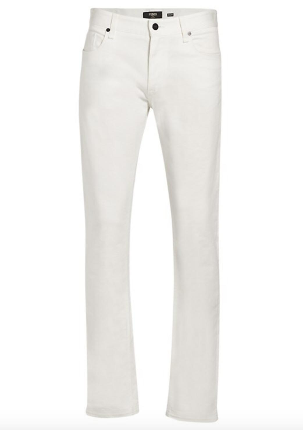 Fendi Vertigo Rubber FF Pocket Jeans