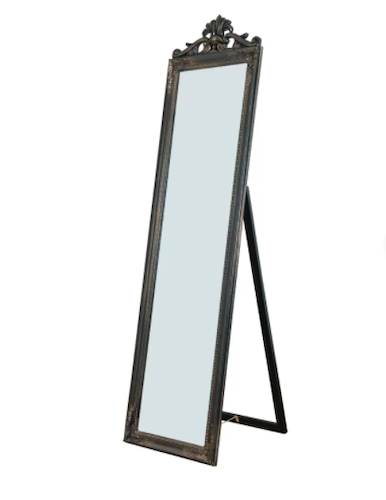 Maryana Antiqued Wood Standing Wall Mirror