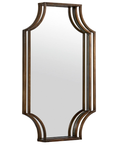Stone & Beam Antique-Style Metal Frame Hanging Wall Mirror