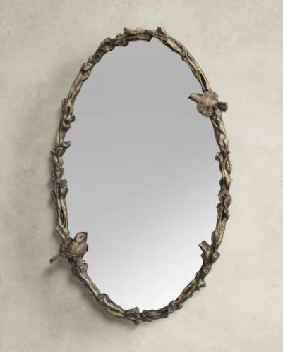 Birch Lane Fyfe Oval Mirror in Antique Gold Leaf