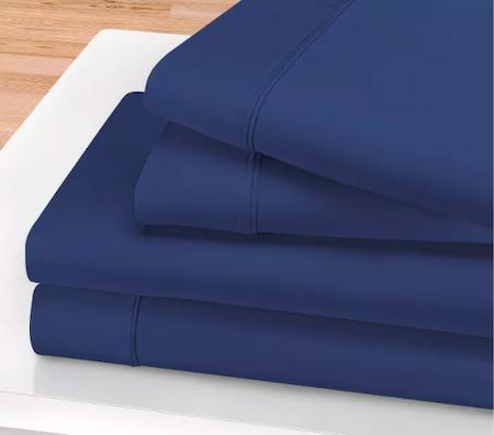 Blue Nile Mills 1200-Thread Count Cotton Deep Pocket Sheet Set