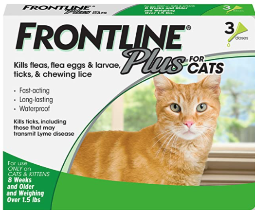 Frontline Plus for Cats, best amazon prime day deals for pets