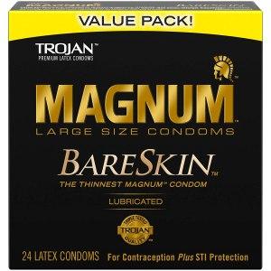 thinnest condoms trojan magnum