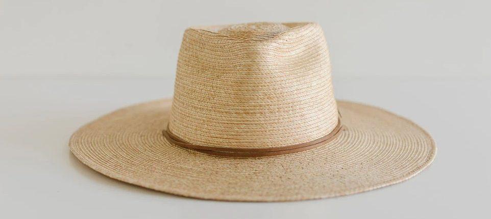 Two Roads Hat Co. Monterrico Palm Sun Hat – Oak flat