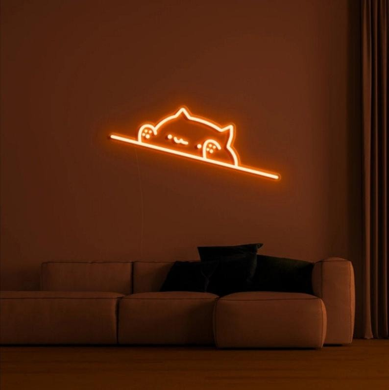 UncleNeon Cute Cat Neon Sign