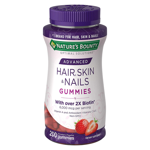 Nature's Bounty Optimal Solutions Advanced Hair, Skin and Nails Strawberry Gummies