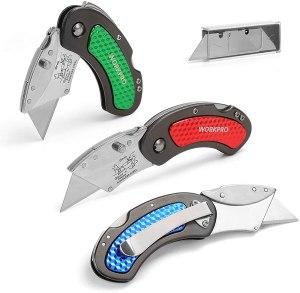 workpro folding utility knife set