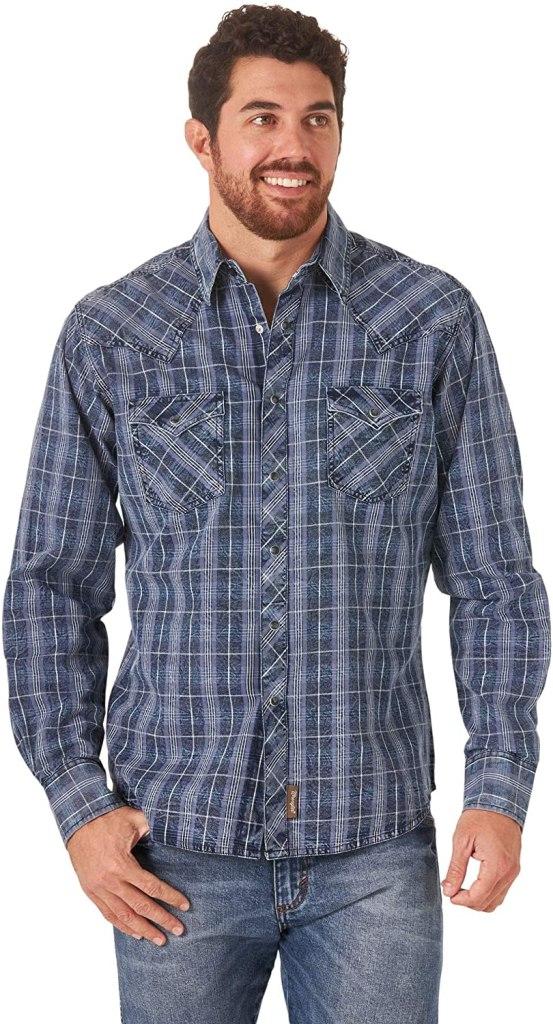 Wrangler Men's Retro Snap Button Shirt