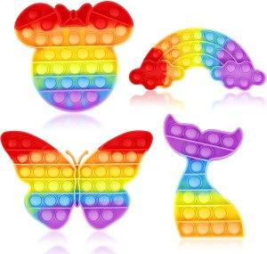 wulcea rainbow pack pop fidget toys