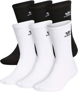 adidas originals mens trefoil crew socks