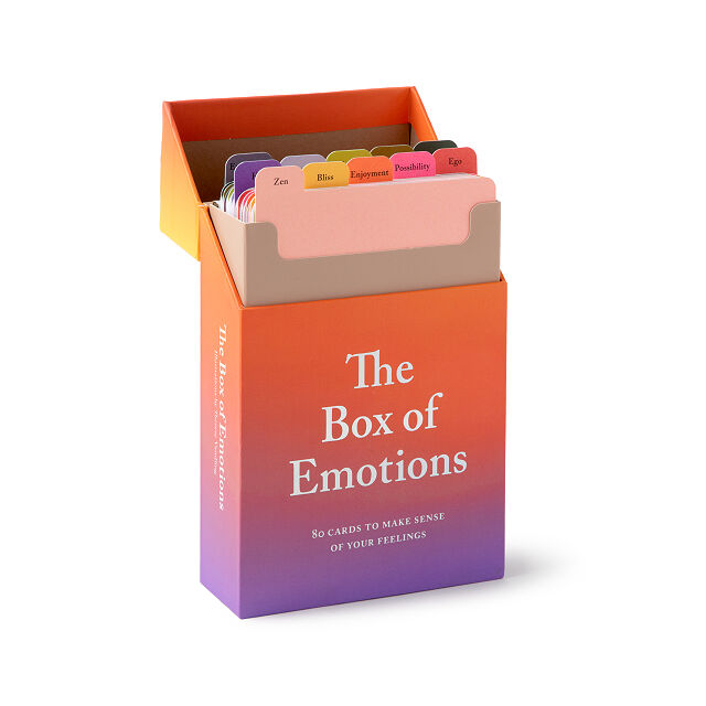 Emotion cards in a box