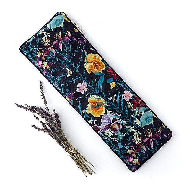 Lavendar heat pillow with flowers