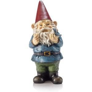 Alpine corporation garden gnome, lawn gnomes