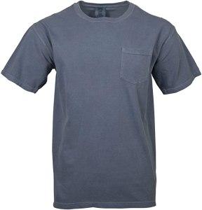 best cheap t shirt Comfort Colors Men's Adult Short Sleeve Pocket Tee