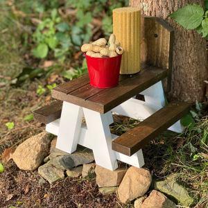 the original farmhouse squirrel picnic table