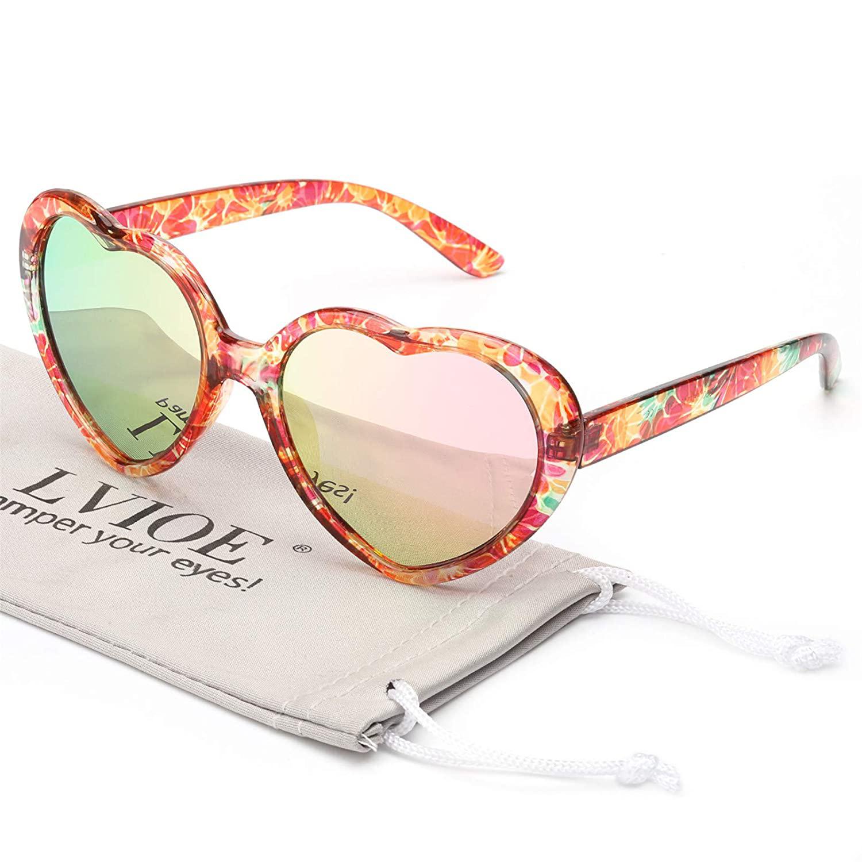 LVIOE Heart Sunglasses