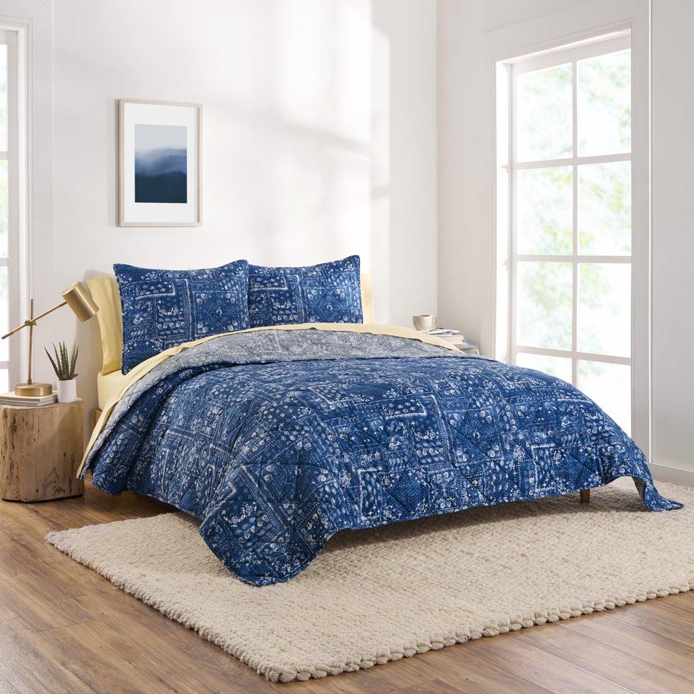 ap Home Bandana Patchwork Reversible Organic Cotton Blend Quilt