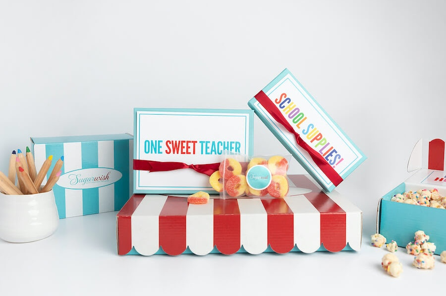 Box of candy for teachers