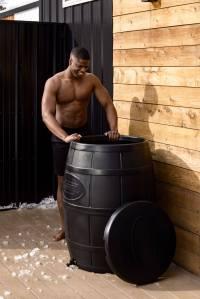 ice barrel ice bath, ice baths