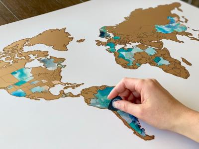 gold dreamer scratch map