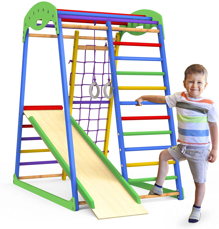 Wooden climbing gym