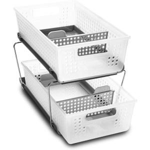 madesmart 2-tier organizer shelves