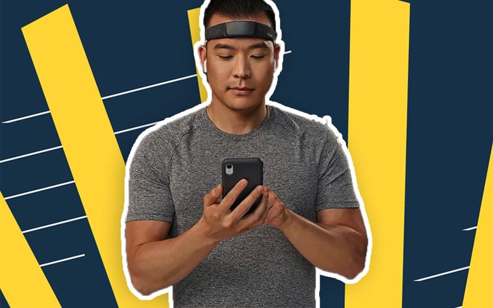 man using meditation headband, meditation industry