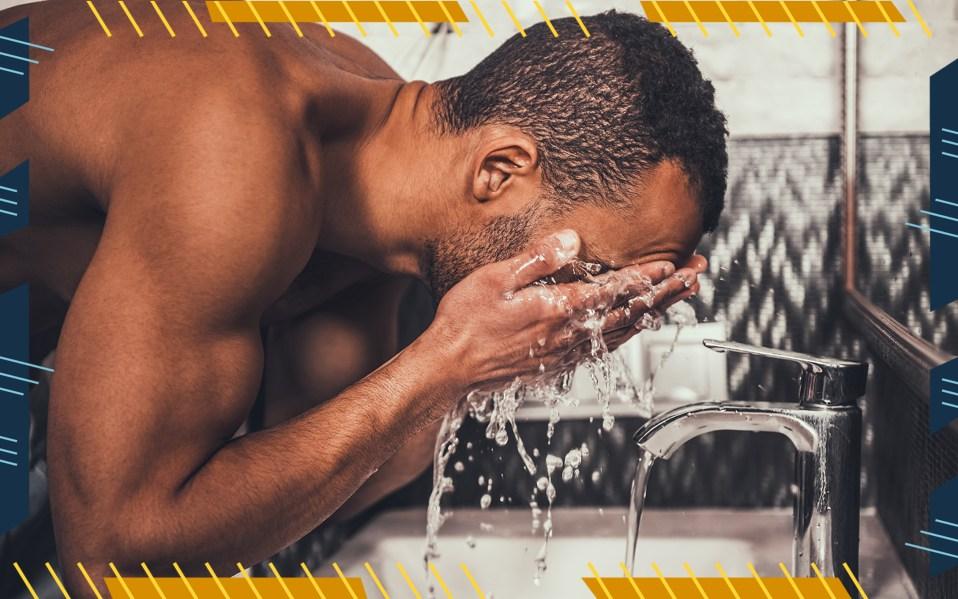 men's skincare routines, skincare through the