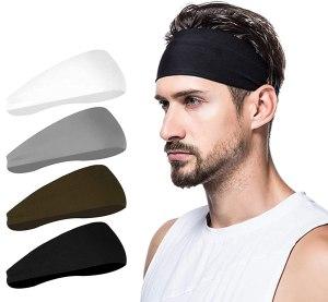 poshei mens headband pack, stylish headbands for men