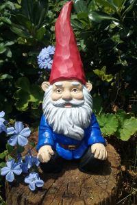 LeCementCollection relaxing garden gnome, lawn gnome