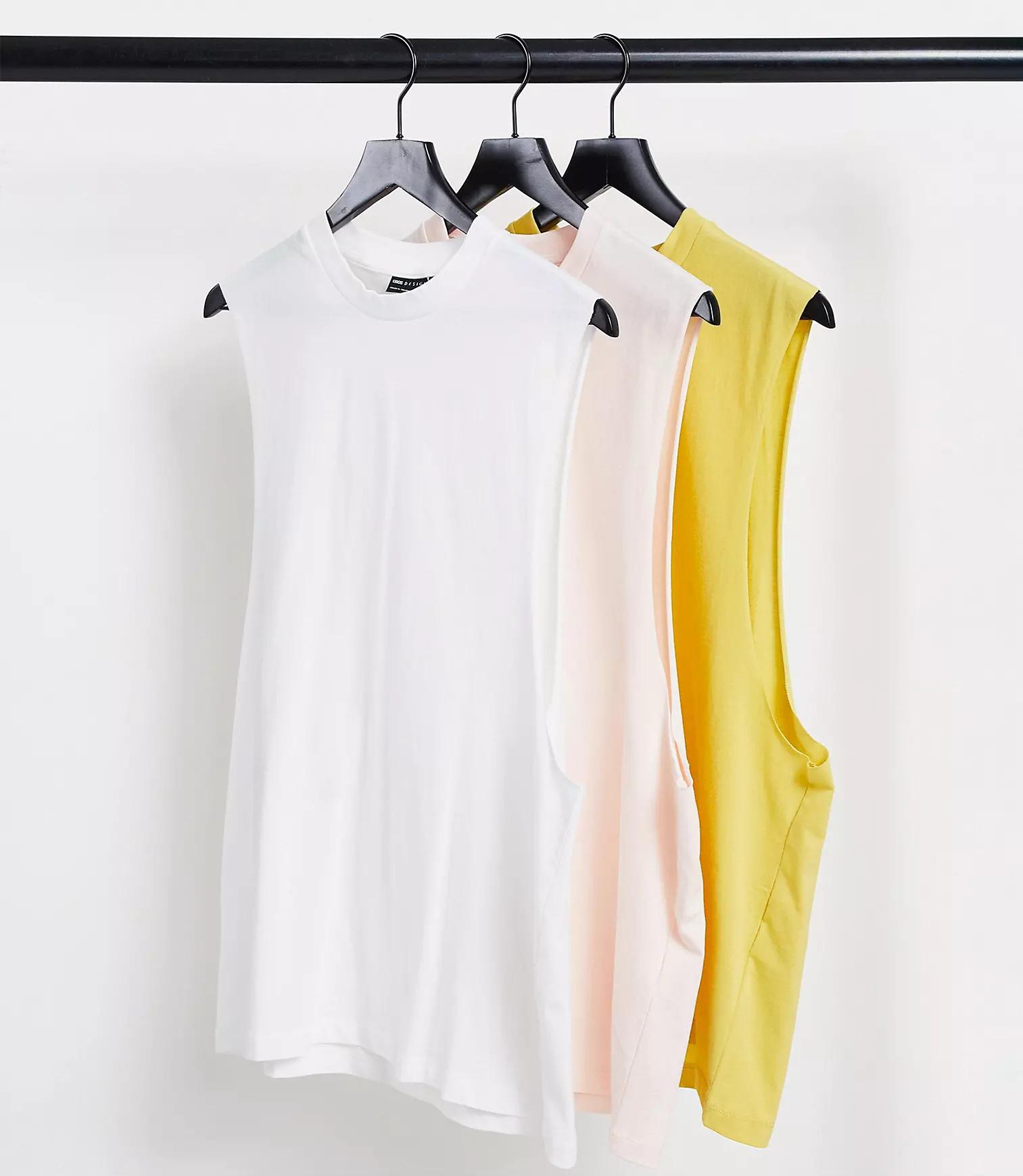 ASOS DESIGN 3-Pack Relaxed Sleeveless T-Shirt