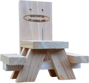 the squirrel shop store squirrel picnic table