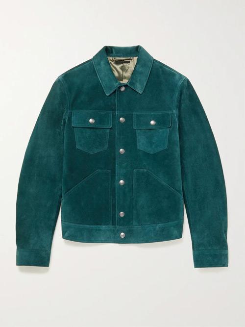 tom ford blue suede jacket