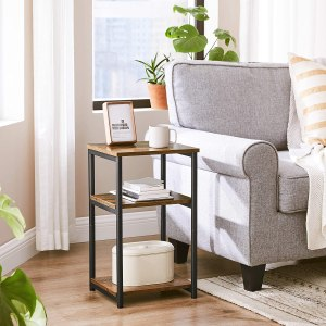 vasagle tall side table, side table with storage